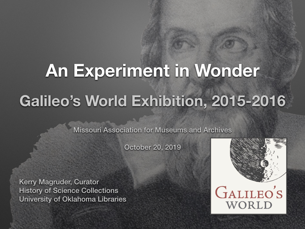 Galileo's World: An Experiment in Wonder