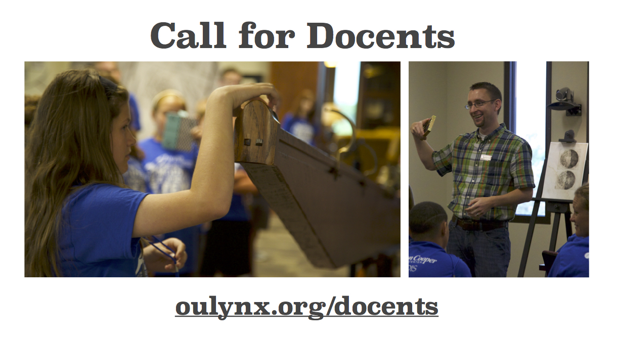 Call for Docents